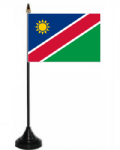 Namibia Desk / Table Flag with plastic stand and base.